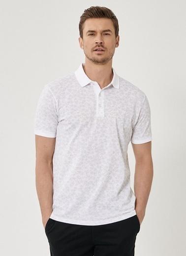 Beymen Business Slim Fit Baskılı Tişört 4B4820200024 Beyaz